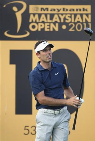 KUALA LUMPUR, MALAYSIA - APRIL 14:  Charl Schwartzel of South Africa in action during the first round of the Maybank Malaysian Open at Kuala Lumpur Golf & Country Club on April 14, 2011 in Kuala Lumpur, Malaysia.  (Photo by Ian Walton/Getty Images)