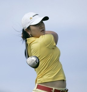 Jeong Jang drives on the third tee during the Pro Am of the SBS Open Feb. 15, 2006 at the Turtle Bay Resort Golf Club in Kahuku, on the island of Oahu, Hawaii.Photo by Marco Garcia/WireImage.com