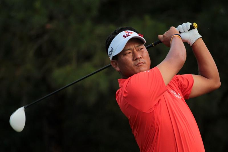 PONTE VEDRA BEACH, FL - MAY 14:  K.J. Choi of South Korea hits his tee shot on the ninth hole during the third round of THE PLAYERS Championship held at THE PLAYERS Stadium course at TPC Sawgrass on May 14, 2011 in Ponte Vedra Beach, Florida.  (Photo by Scott Halleran/Getty Images)