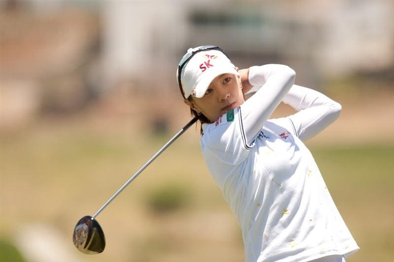 MORELIA, MEXICO - MAY 01: Na Yeon Choi of SOuth Korea follows through on a tee shot during the third round of the Tres Marias Championship at the Tres Marias Country Club on May 1, 2010 in Morelia, Mexico. (Photo by Darren Carroll/Getty Images)
