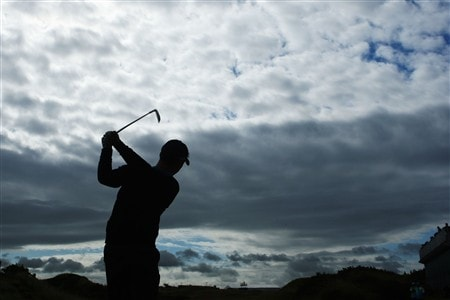 SOUTHPORT, UNITED KINGDOM - JULY 15:  Paul Casey of England tees off on the ninth hole during the second practice round of the 137th Open Championship on July 15, 2008 at Royal Birkdale Golf Club, Southport, England.  (Photo by Stuart Franklin/Getty Images)