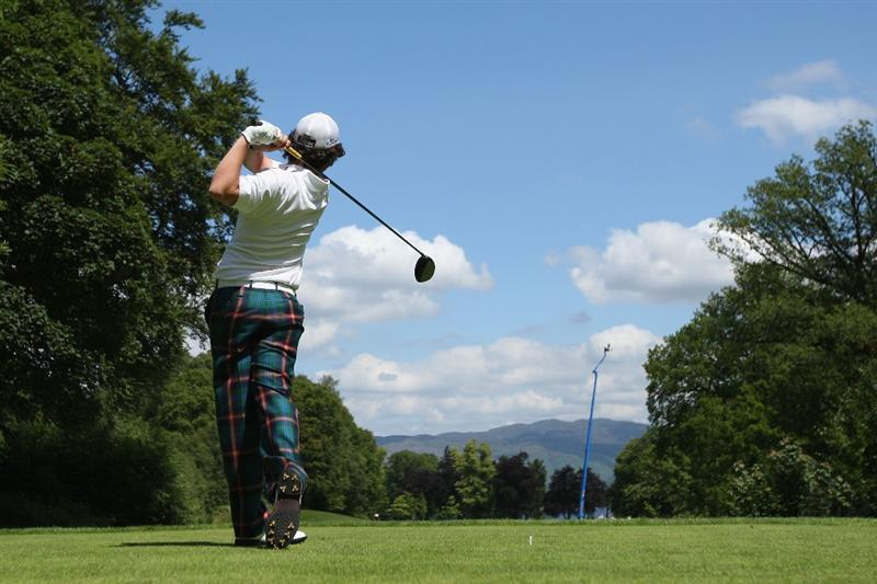 LUSS, SCOTLAND - JULY 11:  Rory McIlroy of Northern Ireland tees off on the 16th hole during the Third Round of The Barclays Scottish Open at Loch Lomond Golf Club on July 11, 2009 in Luss, Scotland.  (Photo by Andrew Redington/Getty Images)