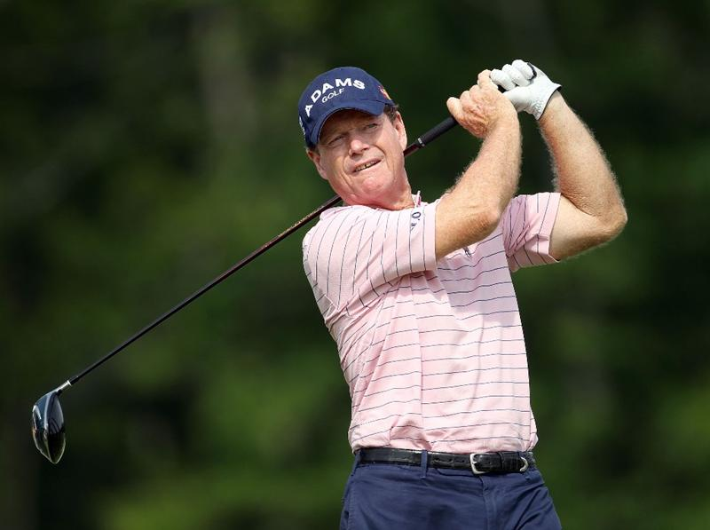 LOUISVILLE, KY - MAY 28:  Tom Watson hits his tee shot on the par 4 17th hole during the third round of the Senior PGA Championship presented by KitchenAid at Valhalla Golf Club on May 28, 2011 in Louisville, Kentucky.  (Photo by Andy Lyons/Getty Images)