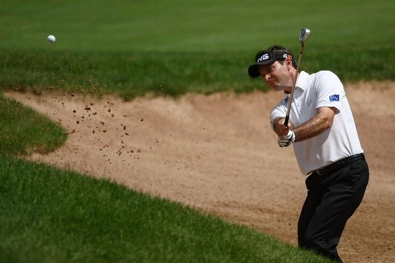 OAKVILLE, ONTARIO - JULY 24: Mark Wilson plays out of the bunker on the ninth green during round two of the RBC Canadian Open at Glen Abbey Golf Club on July 24, 2009 in Oakville, Ontario, Canada.  (Photo by Chris McGrath/Getty Images)