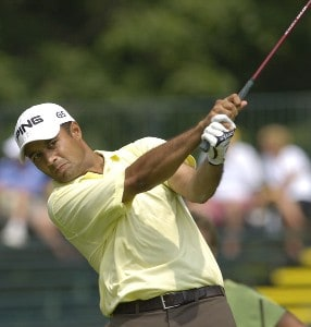 Arjun Atwal during the first round of the U.S. Bank Championship in Milwaukee at Brown Deer Park Golf Course in Milwaukee, Wisconsin, on July 27, 2006.Photo by Steve Levin/WireImage.com