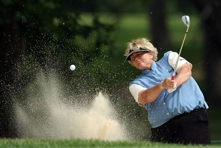 EDINA, MN - JUNE 25:  Laura Davies of England hits her second shot at the 14th hole during a practice round prior to the 2008 U.S. Women's Open at Interlachen Country Club on June 25, 2008 in Edina, Minnesot.  (Photo by David Cannon/Getty Images)
