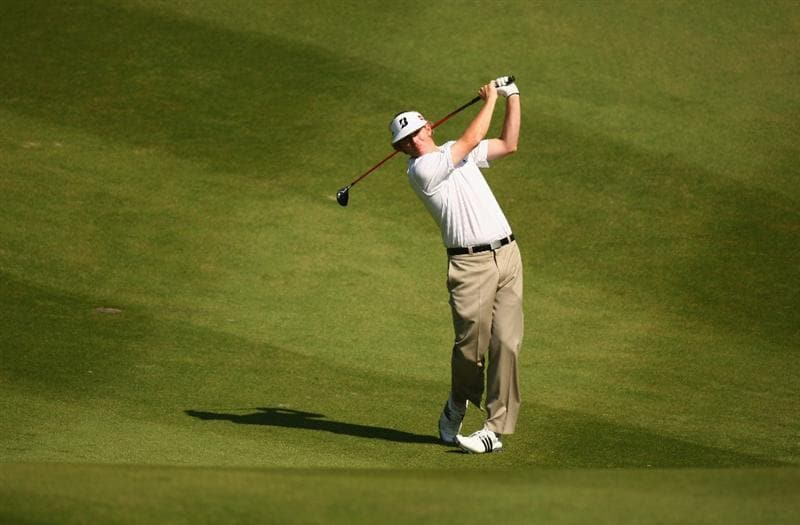 SHENZHEN, CHINA - NOVEMBER 27:  Brandt Snedeker of USA in action during round one of the Omega Mission Hills World Cup at the Mission Hills Resort on 27 November 2008 in Shenzhen, China.  (Photo by Ian Walton/Getty Images)