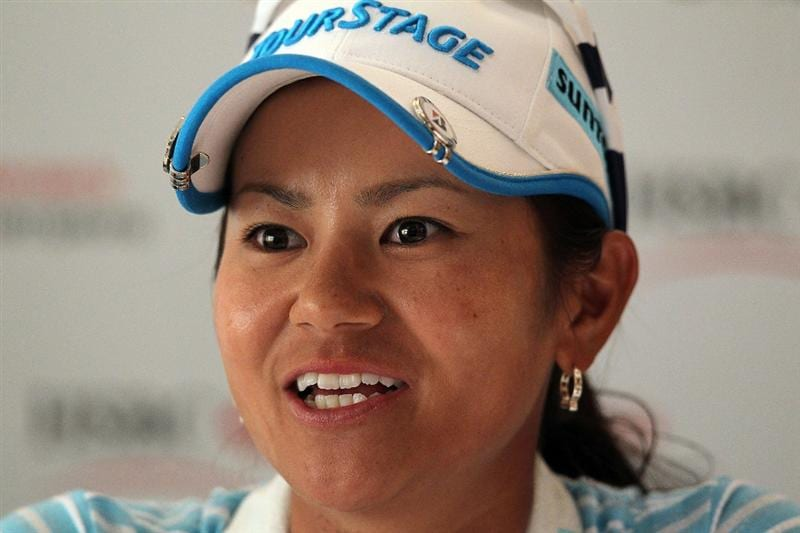 SINGAPORE - FEBRUARY 23:  Ai Miyazato of Japan is pictured during a press conference prior to the HSBC Women's Champions at Tanah Merah Country Club on February 23, 2010 in Singapore, Singapore.  (Photo by Andy Lyons/Getty Images)
