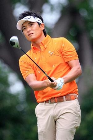 FT. WORTH, TX - MAY 19: Ryuji Imada of Japan watches his tee shot on the ninth hole during the first round of the Crowne Plaza Invitational at Colonial Country Club on May 19, 2011 in Ft. Worth, Texas. (Photo by Hunter Martin/Getty Images)