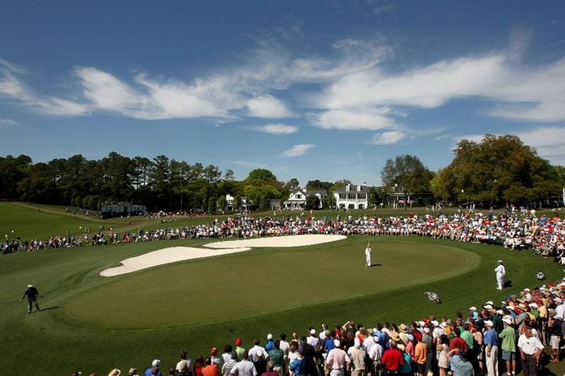 AUGUSTA, GA - APRIL 10:  Fred Couples  watches a putt on the ninth green during the third round of the 2010 Masters Tournament at Augusta National Golf Club on April 10, 2010 in Augusta, Georgia.  (Photo by Jamie Squire/Getty Images)