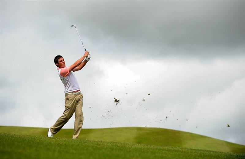LUMBRES, FRANCE - JUNE 19:  Matt Haines of England in action during Round Three of the Saint-Omer Open at The Aa St Omer Golf Club on June 19, 2010 in Lumbres, France.  (Photo by Christopher Lee/Getty Images)