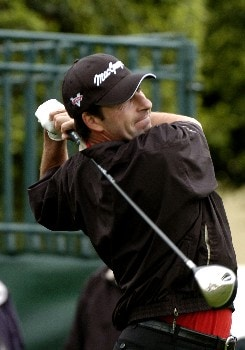 Jose Maria Olazabal  tees off during first-round competition March 3, 2005  at the Ford Championship at Doral in Miami.  Olazabal finished at eight under par.