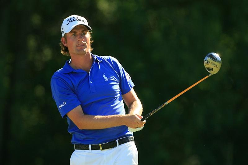 NEW ORLEANS, LA - APRIL 29: Webb Simpson watches his tee shot on the fifth hole during the second round of the Zurich Classic at the TPC Louisiana on April 29, 2011 in New Orleans, Louisiana. (Photo by Hunter Martin/Getty Images)