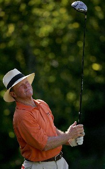 SAN ANTONIO - OCTOBER 20:  Tom Kite watches his drive on the 15th hole during the second round of the AT&T Championship at Oak Hills Country Club October 20, 2007 in San Antonio, Texas.  (Photo by S.Greenwood/Getty Images)