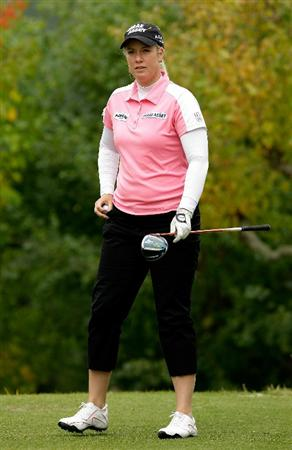 SHIMA, JAPAN - NOVEMBER 07:  Brittany Lincicome of United States walks to her shot on the 2nd hole during the final round of the Mizuno Classic at Kintetsu Kashikojima Country Club on November 7, 2010 in Shima, Japan.  (Photo by Chung Sung-Jun/Getty Images)