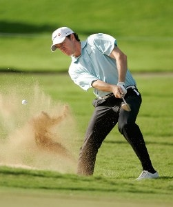 Jimmy Walker hits out of a bunker during the third round of the Sony Open in Hawaii held at Waialae Country Club January 12, 2008 in Honolulu, Hawaii. PGA TOUR - 2008 Sony Open in Hawaii - Third RoundPhoto by Stan Badz/PGA TOUR/WireImage.com