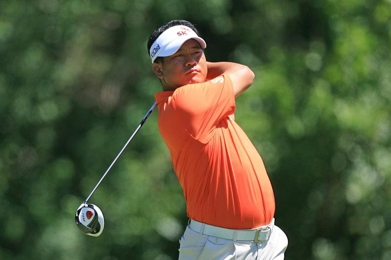 NEW ORLEANS, LA - APRIL 29: K.J. Choi of South Korea hits his tee shot on the sixth hole during the second round of the Zurich Classic at the TPC Louisiana on April 29, 2011 in New Orleans, Louisiana. (Photo by Hunter Martin/Getty Images)