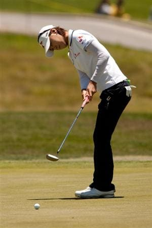 MORELIA, MEXICO - MAY 01: Na Yeon Choi of South Korea putts during the third round of the Tres Marias Championship at the Tres Marias Country Club on May 1, 2010 in Morelia, Mexico. (Photo by Darren Carroll/Getty Images)