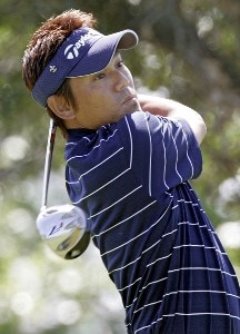 Hidemichi Tanaka during the first round of the Zurich Classic of New Orleans at the English Turn Golf & Country Club in New Orleans, Louisiana on April 27, 2004Photo by Gregory Shamus/WireImage.com