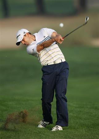 DUBAI, UNITED ARAB EMIRATES - FEBRUARY 10:  Sergio Garcia of Spain in action during the first round for the 2011 Omega Dubai Desert Classic held on the Majilis Course at the Emirates Golf Club on February 10, 2011 in Dubai, United Arab Emirates.  (Photo by Ian Walton/Getty Images)