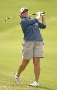 Moira Dunn in action during the third round of the 2006 Franklin American Mortgage Championship benefiting the Monroe Carell Jr. Children's Hospital at Vanderbilt at Vanderbilt Legends Club in Franklin, Tennessee on May 5, 2006.Photo by Steve Grayson/WireImage.com
