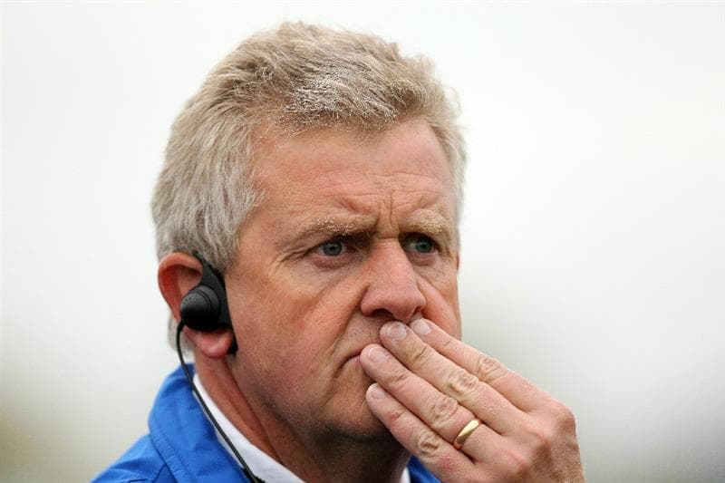 NEWPORT, WALES - OCTOBER 02:  European Team Captain Colin Montgomerie watches the play during the  Fourball & Foursome Matches during the 2010 Ryder Cup at the Celtic Manor Resort on October 2, 2010 in Newport, Wales.  (Photo by Andy Lyons/Getty Images)