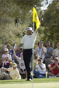 Kirk Triplett birdies the 16th and 17th hole to win  the  2006 Chrysler Classic of Tucson on Sunday , February 26, 2006 at the Omni Tucson National Golf Resort and Spa in Tucson, ArizonaPhoto by Marc Feldman/WireImage.com