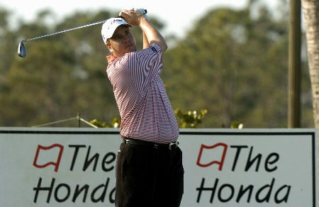 Craig Barlow competes  in  second  round competition at the 2005 Honda Classic March 11, 2005 in Palm Beach Gardens, Florida.