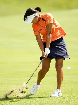 NEW ROCHELLE, NY - JULY 22: Mi Hyun Kim of Korea hits on the 7th hole during the semifinal round of the HSBC Women's World Match Play at Wykagyl Country Club on July 22, 2007 in New Rochelle, New York. (Photo by Sam Greenwood/Getty Images)