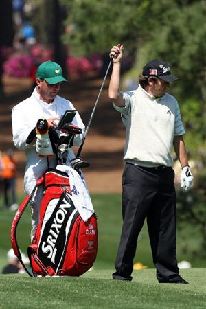 AUGUSTA, GA - APRIL 09:  Tim Clark of South Africa pulls a club on the 17th hole during the first round of the 2009 Masters Tournament at Augusta National Golf Club on April 9, 2009 in Augusta, Georgia.  (Photo by David Cannon/Getty Images)