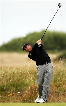 TURNBERRY, SCOTLAND - JULY 13:  Graeme McDowell of Northern Ireland in action  during the practice round of the 138th Open Championship on July 13, 2009 on the Ailsa Course, Turnberry Golf Club, Turnberry, Scotland.  (Photo by Ross Kinnaird/Getty Images)