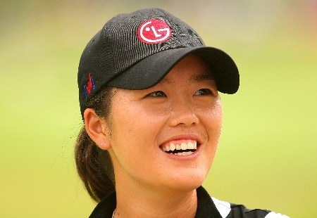 SINGAPORE - FEBRUARY 29:  Angela Park of USA waits on the 16th hole during the second round of the HSBC Women's Champions at Tanah Merah Country Club on February 29, 2008 in Singapore.  (Photo by Scott Halleran/Getty Images)