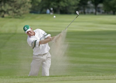 Woody Austin hits from a bunker at #15 during the fourth and final round of the Buick Open held at Warwick Hills Golf & Country Club in Grand Blanc, Michigan, on July 1, 2007. Photo by: Chris Condon/PGA TOURPhoto by: Chris Condon/PGA TOUR