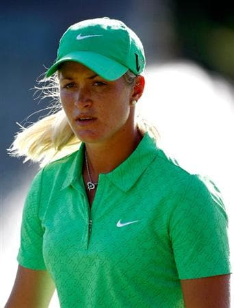 DANVILLE, CA - SEPTEMBER 25:  Suzann Pettersen of Sweden walks off the 18th hole during the second round of the CVS/pharmacy LPGA Challenge at Blackhawk Country Club on September 25, 2009 in Danville, California.  (Photo by Jonathan Ferrey/Getty Images)