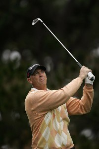 Tom Lehman during the first round of the AT&T Pebble Beach National Pro-Am on the Poppy Hills Golf Course in Pebble Beach, California, on February 8, 2007. PGA TOUR - 2007 AT&T Pebble Beach National Pro-Am - First RoundPhoto by Michael Cohen/WireImage.com