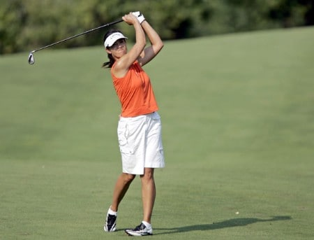 Leta Lindley in action during the first round of the Wendy's Championship for Children, Tartan Fields Golf Club, Dublin, Ohio.Photo by Hunter Martin/WireImage.com