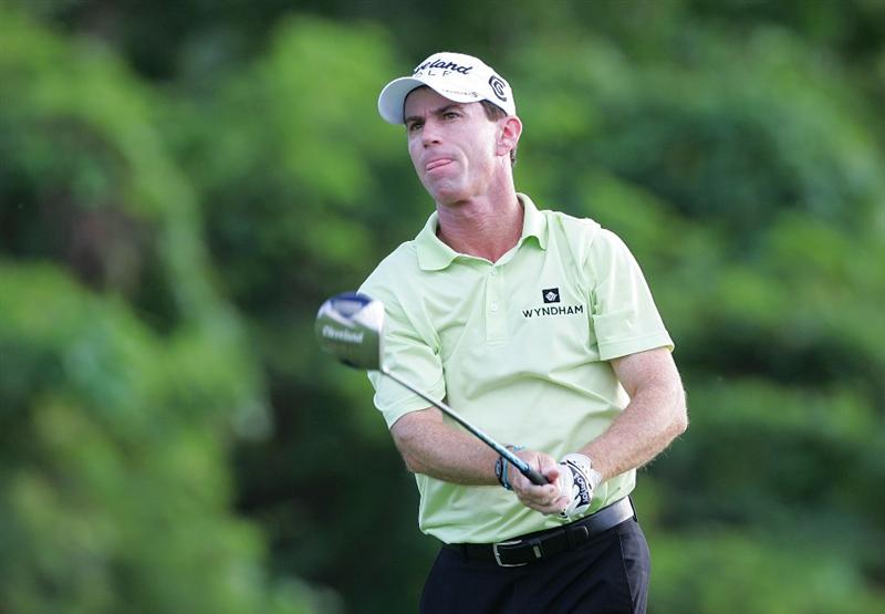 RIO GRANDE, PR - MARCH 12:  Skip Kendall hits a drive during the continuation of the first round of the Puerto Rico Open presented by Banco Popular at Trump International Golf Club held on March 12, 2010 in Rio Grande, Puerto Rico.  (Photo by Michael Cohen/Getty Images)