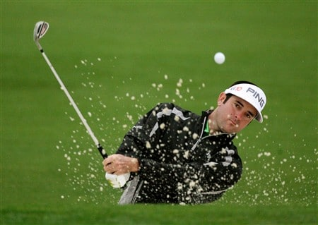 AUGUSTA, GA - APRIL 07:  Bubba Watson hits from a bunker during the first day of practice prior to the start of the 2008 Masters Tournament at Augusta National Golf Club on April 7, 2008 in Augusta, Georgia.  (Photo by Andrew Redington/Getty Images)