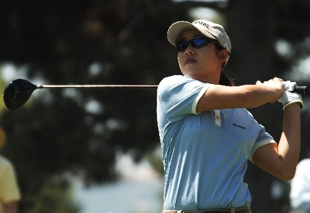 Aree Song hits from the first tee during the first round of the 2005 LPGA Takefuji Classic at the Las Vegas Country Club in Las Vegas, Nevada, April 14, 2005Photo by Steve Grayson/WireImage.com