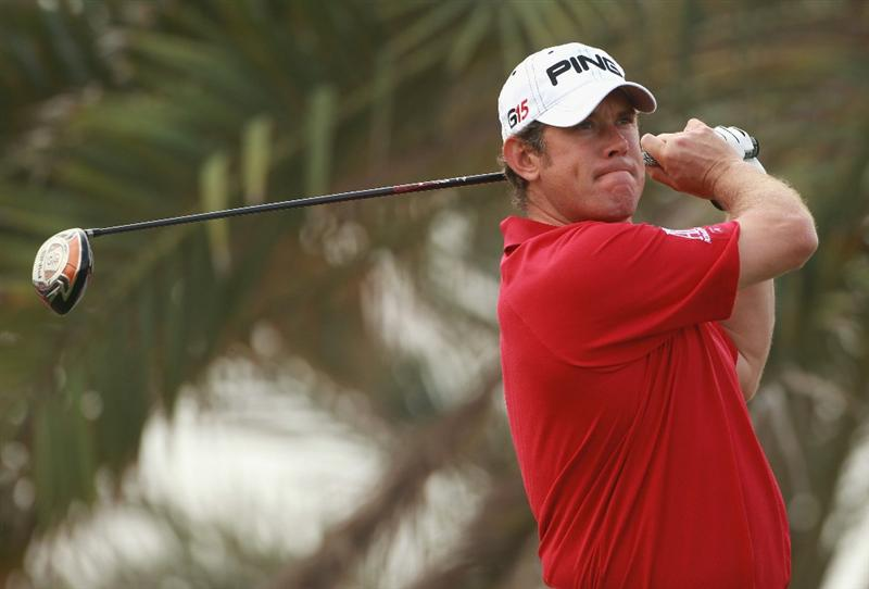 ABU DHABI, UNITED ARAB EMIRATES - JANUARY 23:  Lee Westwood of England in action during the final round of The Abu Dhabi HSBC Golf Championship at Abu Dhabi Golf Club on January 23, 2011 in Abu Dhabi, United Arab Emirates.  (Photo by Andrew Redington/Getty Images)