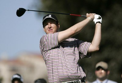 J.J. Henry in action during the second round of the PGA TOUR's 2007 Nissan Open at Rivera Country Club in Pacific Palisades, California on February 16, 2007. PGA TOUR - 2007 Nissan Open - Second RoundPhoto by Steve Grayson/WireImage.com
