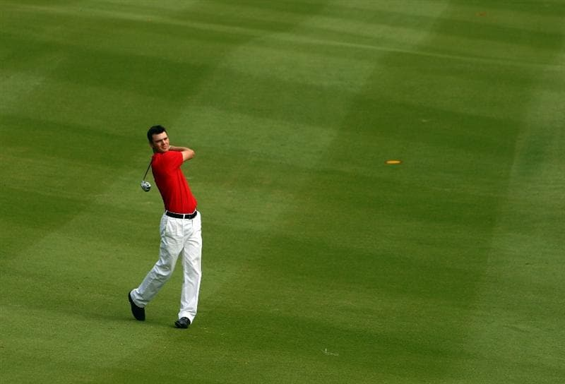 SHENZHEN, CHINA - NOVEMBER 26:  Martin Kaymer of Germany in action during the Pro - Am of the Omega Mission Hills World Cup at the Mission Hills Resort on November 26, 2008 in Shenzhen, China.  (Photo by Ian Walton/Getty Images)