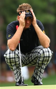 AUGUSTA, GA - APRIL 12:  Ian Poulter of England walks off the second tee during the third round of the 2008 Masters Tournament at Augusta National Golf Club on April 12, 2008 in Augusta, Georgia.  (Photo by Andrew Redington/Getty Images)
