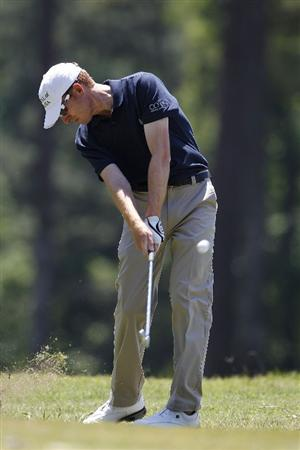 ATHENS, GA - MAY 07:  Roberto Castro hits his second shot on the seventh hole from the rough during the third round of the Stadion Classic at UGA held at the University of Georgia Golf Course on May 7, 2011 in Athens, Georgia.  (Photo by Michael Cohen/Getty Images)