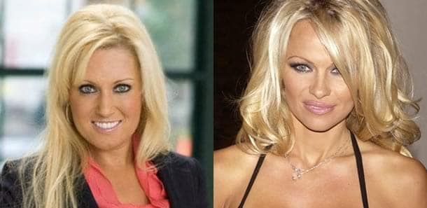 Natalie Gulbis and Pam Anderson