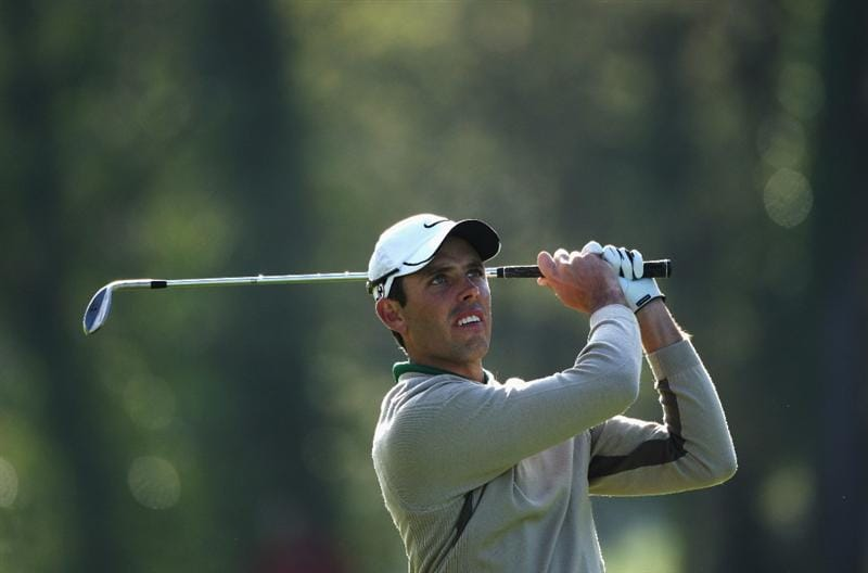 GIRONA, SPAIN - APRIL 30:  Charl Schwartzel of South Africa eyes up his approach shot into the 13th leading to a birdie during the first round of the Open de Espana at the PGA Golf Catalunya on April 30, 2009 in Girona, Spain.  (Photo by Warren Little/Getty Images)