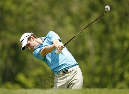 DUBLIN, OH - MAY 31: Justin Rose of England hits his tee shot on the 3rd hole during the third round of the Memorial Tournament at Muirfield Village Golf Club on May 31, 2008 in Dublin, Ohio. (Photo by Hunter Martin/Getty Images)