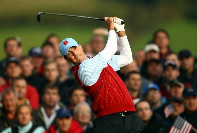 NEWPORT, WALES - OCTOBER 03:  Matt Kuchar of the USA tees of on the 17th hole during the  Fourball & Foursome Matches during the 2010 Ryder Cup at the Celtic Manor Resort on October 3, 2010 in Newport, Wales.  (Photo by Richard Heathcote/Getty Images)