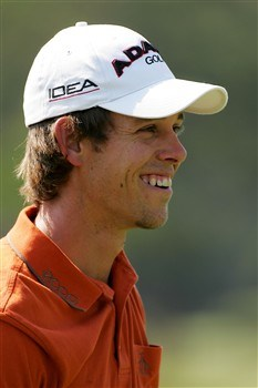 PONTE VEDRA BEACH, FL - MAY 06:  Aaron Baddeley of Australia smiles during the second day of practice for the THE PLAYERS Championship on THE PLAYERS Stadium Course at TPC Sawgrass on May 6, 2008 in Ponte Vedra Beach, Florida.  (Photo by Sam Greenwood/Getty Images)