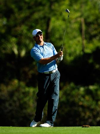PALM HARBOR, FL - MARCH 20:  Trevor Immelman of South Africa plays a shot on the 9th hole during the second round of the Transitions Championship at the Innisbrook Resort and Golf Club on March 20, 2009 in Palm Harbor, Florida.  (Photo by Sam Greenwood/Getty Images)